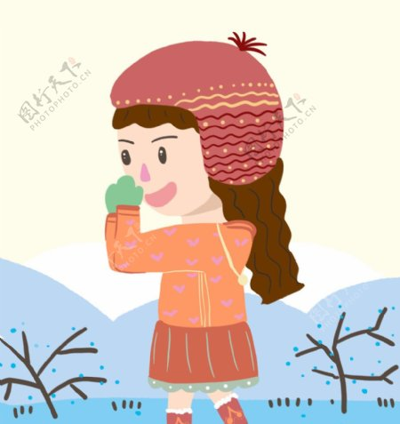 卡通小雪人图片