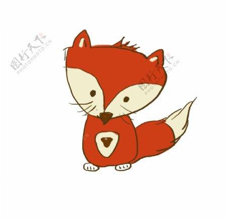 卡通狐狸手绘图片