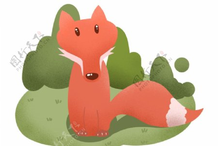 卡通手绘小狐狸图片