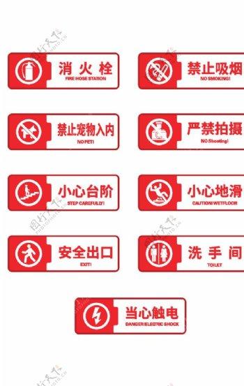 警示标识标牌图片