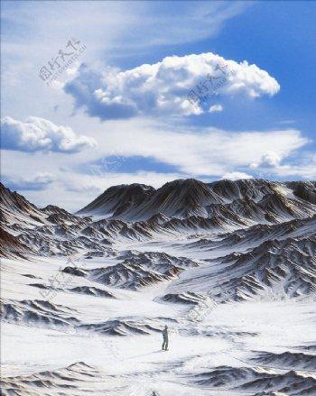 C4D模型山脉和小路图片