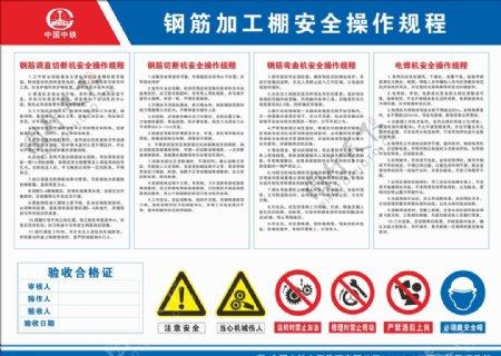 中铁钢筋加工棚安全操作规程图片