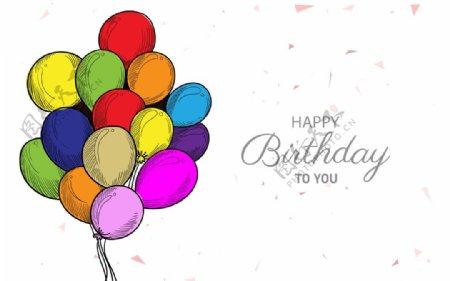 生日背景节日气球图片