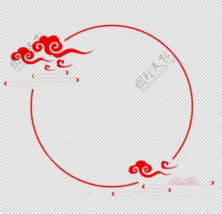 中国□风圈圈圆圈边框图片