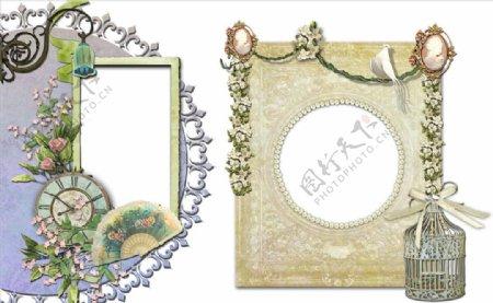 植物装饰相框png图片