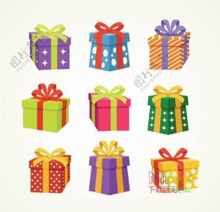 背景图eps文件模板圣诞礼物图片