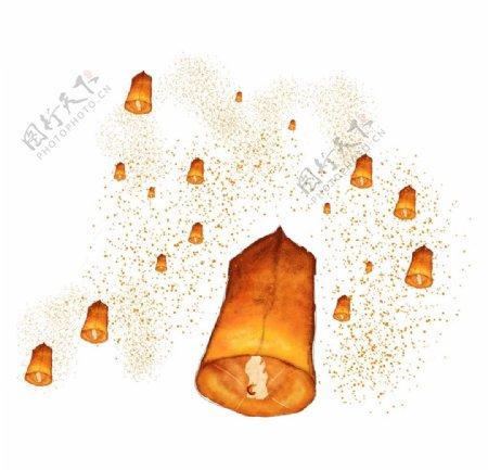 中式灯笼图层图片